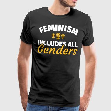 Feminism feminist feminist cool saying - Men's Premium T-Shirt