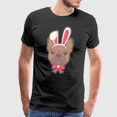 French Bulldog hase Happy Easter Gift - Men's Premium T-Shirt