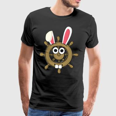 Sailor Sailor Steering Wheel Easter Bunny Easter Gift - Men's Premium T-Shirt