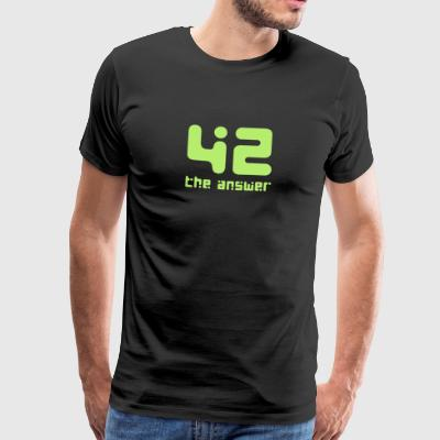 42, the Answer Answer Galaxy Science Fiction UFO - Men's Premium T-Shirt