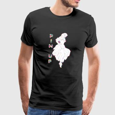 PIN UP GIRL IN DRESS - Men's Premium T-Shirt