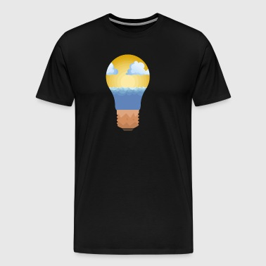 Light Bulb Ocean View - Männer Premium T-Shirt