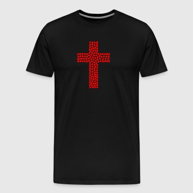 Cross out of heart - Men's Premium T-Shirt