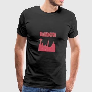 Washington City - Premium-T-shirt herr