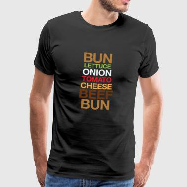Cheeseburger - Mannen Premium T-shirt