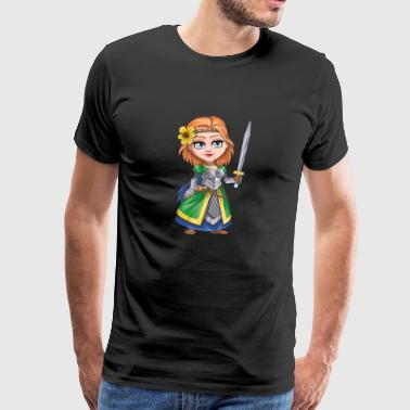 Knight with sword - Men's Premium T-Shirt