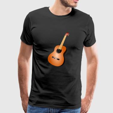Guitar, acoustic guitar, gift idea - Men's Premium T-Shirt