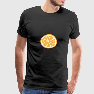 ORANGE - Herre premium T-shirt