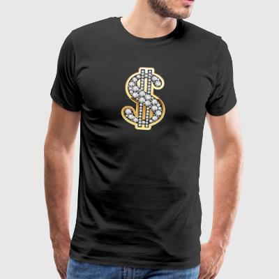 Dollar Diamants Symbole - T-shirt Premium Homme