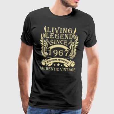 Living Legends Since 1967 Authentic Vintage - Premium-T-shirt herr