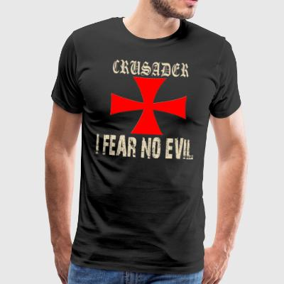 Crusader Knights Templar Cross Motif - Men's Premium T-Shirt