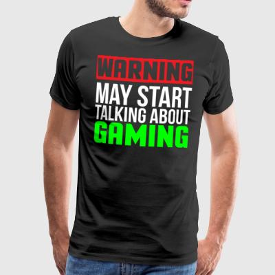 Warning Funny Video Gaming T-shirt - Men's Premium T-Shirt