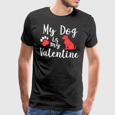 My dog is my Valentine - Männer Premium T-Shirt