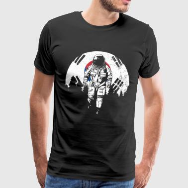 Astronaut Korea moon flag K pop - Men's Premium T-Shirt