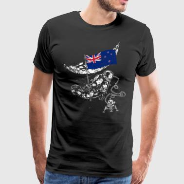 New Zealand conquers space beach vacation moon - Men's Premium T-Shirt