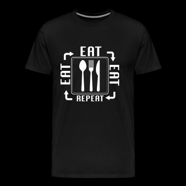 EAT FOOD EATING - Contraceptive Gift - Men's Premium T-Shirt