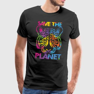 Spara planeten Tiger CO2 global uppvärmning - Premium-T-shirt herr