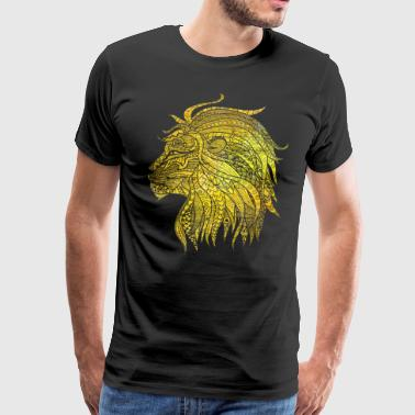 Lion Cat Gift Noble King Meow Power - Mannen Premium T-shirt