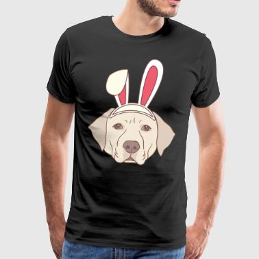 Labrador Easter Bunny Happy Easter Gift Bunny - Men's Premium T-Shirt