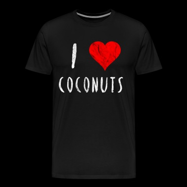 I love Coconuts Coconut Red Heart Gift idea - Men's Premium T-Shirt