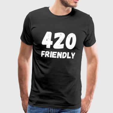 420 Friendly - April 20 weed cannabis hampa gräs - Premium-T-shirt herr