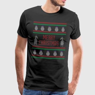 Merry Chrismas Unicorn - Männer Premium T-Shirt