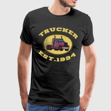 Trucker truck driver truck driver truck occupation - Men's Premium T-Shirt