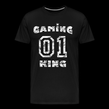 Vintage Spieler Game - Gaming King - Männer Premium T-Shirt
