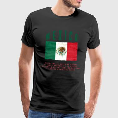 Mexicansk Flag Bandera Mexico - Herre premium T-shirt