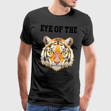Tiger cat Eye of the tiger - Men's Premium T-Shirt