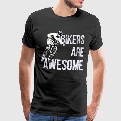 Bikers er awesome - Herre premium T-shirt