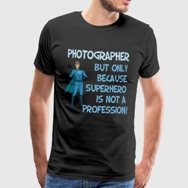 Photographer superhero - Men's Premium T-Shirt