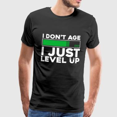 level Up - Premium T-skjorte for menn