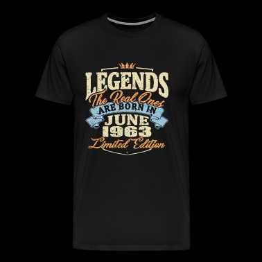 Real legends are born in june 1963 - Men's Premium T-Shirt