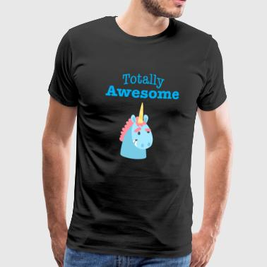 Totally awesome blue - Men's Premium T-Shirt