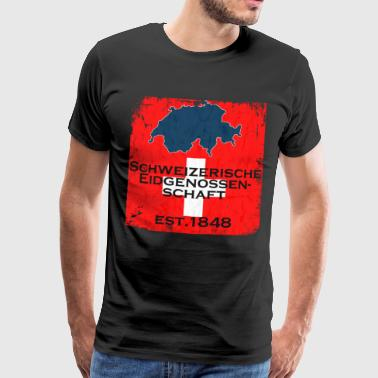 Swiss Confederation - Men's Premium T-Shirt