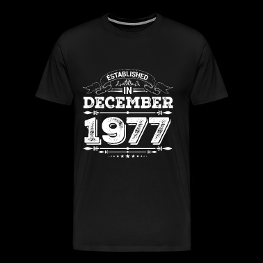 Established in December 1977 - Men's Premium T-Shirt