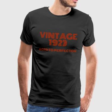 Vintage Pop Art 1923 anniversaire. Vieilli à la perfection. - T-shirt Premium Homme