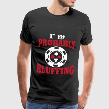 Poker Face bij poker - Mannen Premium T-shirt