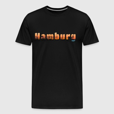Hamburg | Port city - Hanseatic city - Germany - Men's Premium T-Shirt