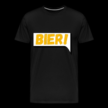 Comic speech bubble beer - Men's Premium T-Shirt