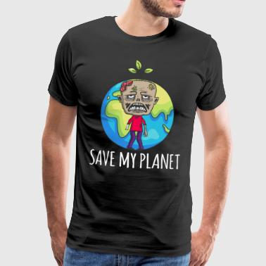 Zombie Earth Day Gift Environment - Mannen Premium T-shirt