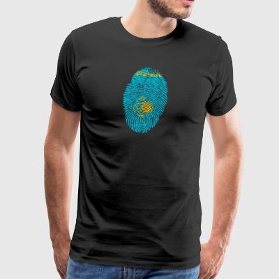 Fingerprint - Kazakhstan - Men's Premium T-Shirt