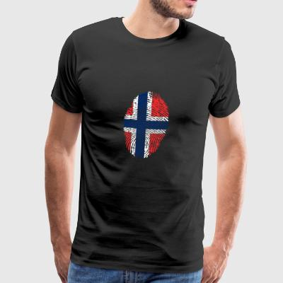 Fingerprint - Norwegen - Männer Premium T-Shirt