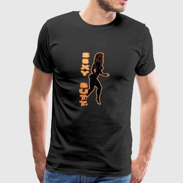 SEXY BUTT BLACK FIRE - Men's Premium T-Shirt