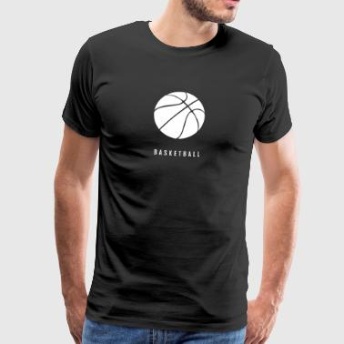 Basketball ball with lettering and silhouette - Men's Premium T-Shirt
