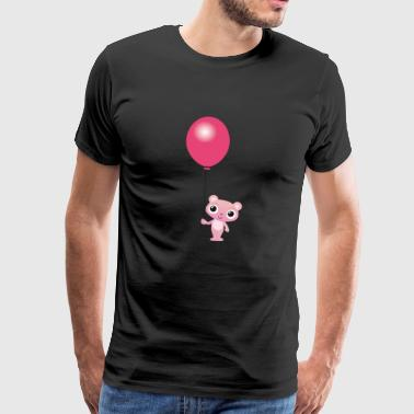 Bear with balloon cute kids design - Men's Premium T-Shirt