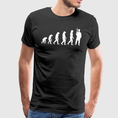 Evolution soldaat - Soldaten T-shirt! - Mannen Premium T-shirt