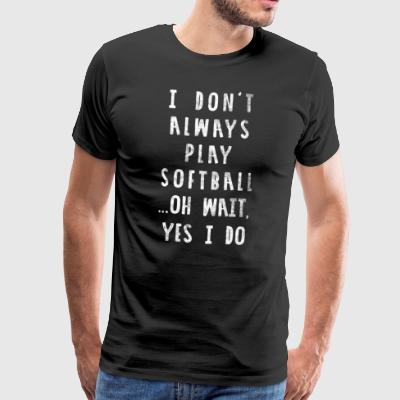 Funny Softball Shirt - Distressed Style - Koszulka męska Premium