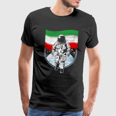 Iran flag in outer space - Men's Premium T-Shirt